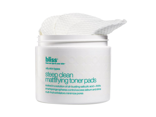 Bliss Steep Clean Pore Mattifying Toner Pads