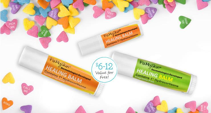 Receive a FREE FixMySkin Healing Balm with your site purchase!