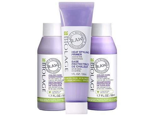Free $27 Biolage R.A.W. Color Care Shampoo, Conditioner, & Heat Styling Primer