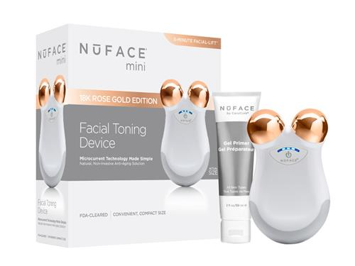 NuFace mini Facial Toning Device - Limited Edition White Rose Gold