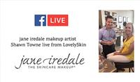 Live at LovelySkin with jane iredale Makeup Artist!