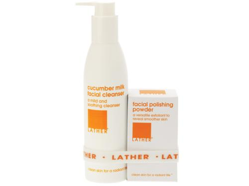 LATHER Cleansing and Polishing Pair - Dry Skin
