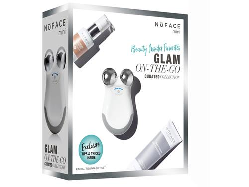 NuFACE mini Facial Toning Device Limited Edition Glam-On-The-Go Gift Set