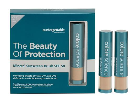 Colorescience Sunforgettable Mineral Sunscreen Brush SPF 50 Multipack