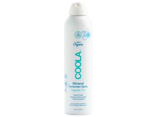 COOLA Mineral SPF 30 Organic Fragrance Free Sunscreen Spray