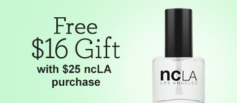 Free $16 ncLA Full-Size Gloss It! Top Coat with Purchase!