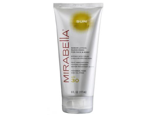 Mirabella Sun Sheer Lotion Sunscreen for Face and Body SPF 30