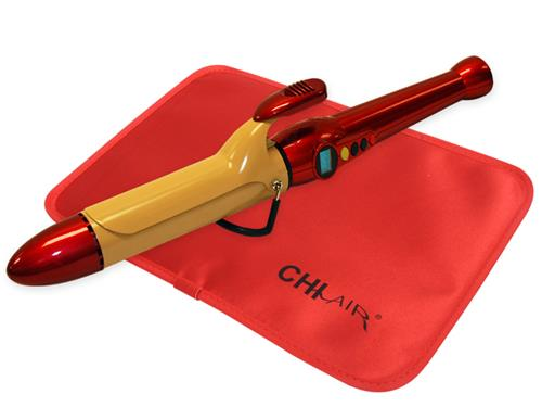 "CHI AIR TEXTURE Tourmaline Ceramic Curling Iron 1"" - Fire Red"