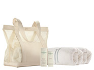 June Jacobs Signature Mesh Tote Bag, Towels, SPF and Lip
