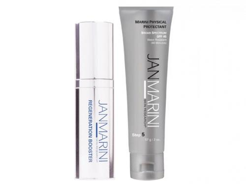 Jan Marini Regeneration Booster Face Lotion and Physical Protectant SPF 45 Bundle