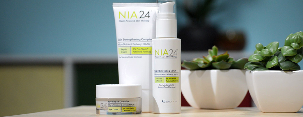 Learn about NIA24 sun damage repair products with LovelySkin!