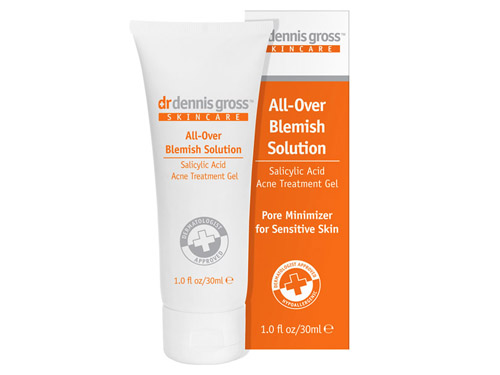 Dr. Dennis Gross Skincare All-Over Blemish Solution: buy this salicylic acid cream.