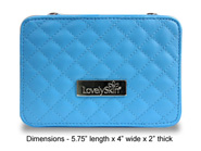 LovelySkin Blue Quilted Cosmetics Case