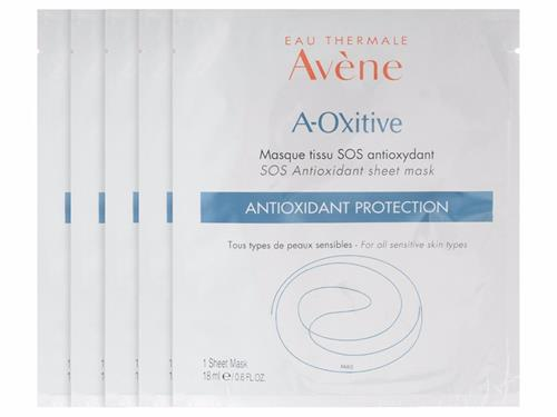 Avene A-Oxitive S.O.S. Antioxidant Sheet Mask - 5 Pack