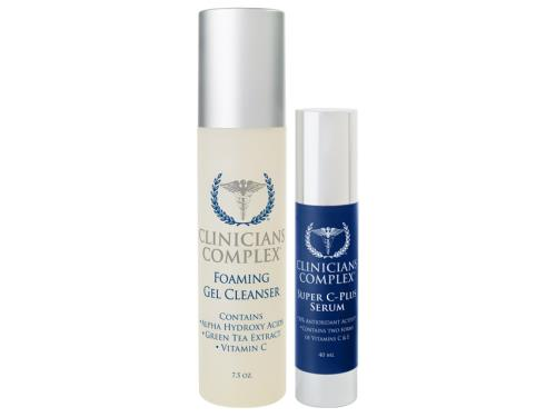 Clinicians Complex Holiday Duo - Foaming Gel Cleanser & Super C-Plus Serum