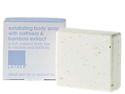 LATHER Exfoliating Body Soap with Oatmeal and Bamboo Extract
