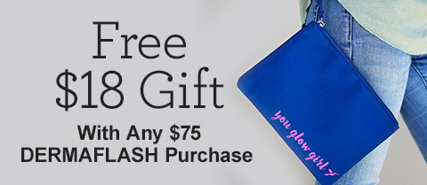 Free $18 Wristlet with Any $75 Dermaflash Purchase