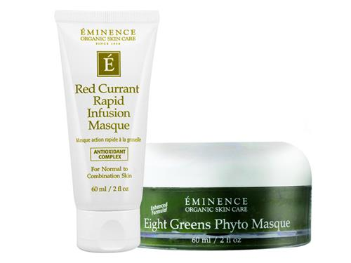 Eminence Red Currant Rapid Infusion Masque and Eight Greens Phyto Masque