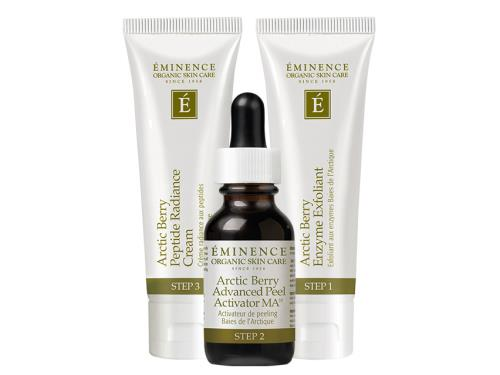 Eminence Arctic Berry Peel & Peptide Illuminating System: rejuvenate skin with this peptide and peel system.