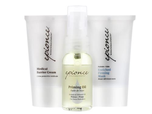 Epionce Essential Recovery Kit with three Epionce skin products