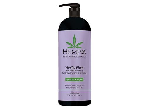 Hempz Haircare Vanilla Plum Herbal Moisturizing & Strengthening Shampoo Liter