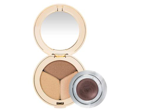 jane iredale PurePressed Triple Eye Shadow - Golden Girl & Jelly Jar Gel Eyeliner - Black Duo