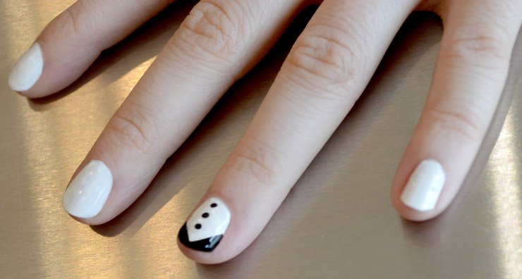 Trend Testers: Tuxedo Nails
