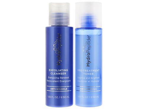 Free $25 HydroPeptide Brightening Travel Duo