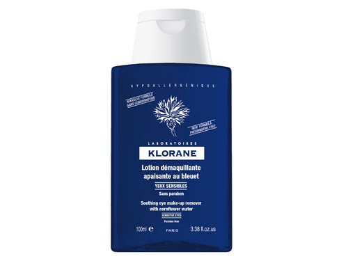 Klorane Soothing Eye Makeup Remover with Cornflower Water Travel Size 3.4 oz