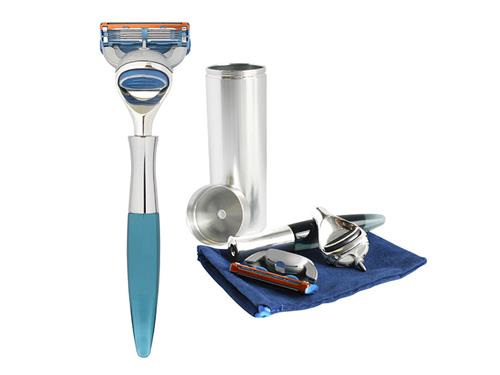 eShave 5-Blade Travel Razor - Blue