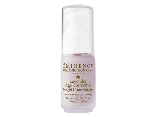 Eminence Lavender Age Corrective Night Concentrate: apply this overnight treatment.