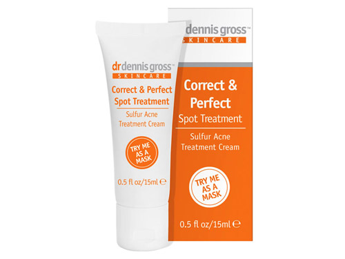 Dr. Dennis Gross Skincare Correct & Perfect Spot Treatment: buy this sulfur acne treatment.